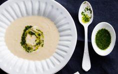 Cauliflower soup and coriander oil, Finnish Food, August 2016