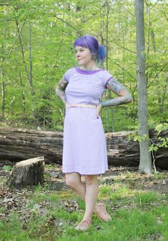 The Dainty Squid: what i wore; grape stripes