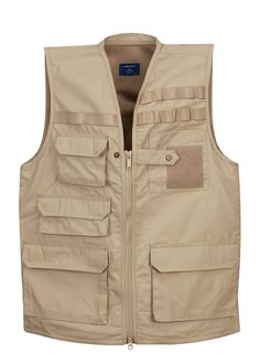 Propper Khaki 65% Polyester / 35% Cotton / Lightweight Ripstop Tactical Vest (M) - Walmart.com
