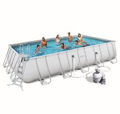 piscine tubulaire rectangulaire steel pro frame pools l671x l366 x h132cm bestway