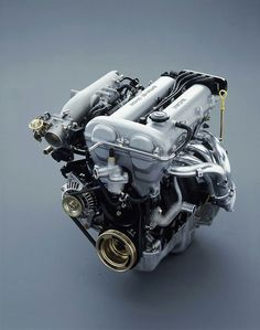 B6ZE 1.6L engine, used in the Mazda Miata 1989 - 1993. The exhaust manifold shown is the stock one, and is not an after market header.