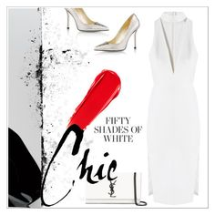 """Fifty shades of white ✨"" by ghada-a ❤ liked on Polyvore featuring Mason's, Yves Saint Laurent, NARS Cosmetics and Emy Mack"