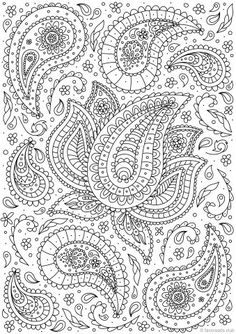 Paisley Flower - Printable Coloring Pages - Favoreads