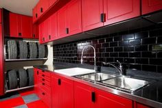 Garage- yes every house needs a nice MAN CAVE- not these colors though, looks to much like a kitchen.