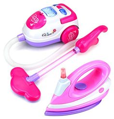 Shop for Velocity Toys Happy Family Pretend Play Battery Operated Toy Vacuum and Clothing Iron Deluxe Combo Play Set. Get free delivery On EVERYTHING* Overstock - Your Online Toys & Hobbies Store! Little Girl Toys, Baby Girl Toys, Toys For Girls, Little Girls, Girl Dolls, Baby Dolls, Rangement Makeup, Princess Toys, Baby Doll Accessories