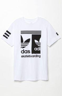 adidas Split T-Shirt - ShopStyle Shirts Adidas Outfit, Nike Outfits, Sport Outfits, Addidas Shirts, Tee Shirts, Camisa Adidas, Clothing Logo, Tee Design, Pull