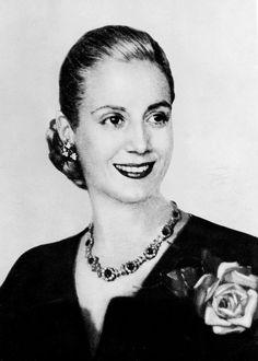 Picture taken in the 1940s in Buenos Aires of Eva Peron (1919-52). Eva Peron, known as Evita