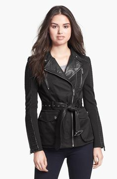 Designer Clothes, Shoes & Bags for Women Coats For Women, Black Leather, Real Leather, My Style, Clothes, Nordstrom, Outerwear Jackets, Women's Coats, Belt