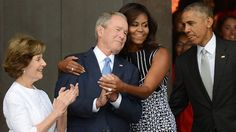 "George W. Bush on affection for Michelle Obama: 'We just took to each other.' ""She kind of likes my sense of humor. Anybody who likes my sense of humor, I immediately like,"" Bush said of the former First Lady."