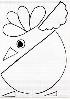 Coloratissimi uccellini, realizzati dai bambini di 5 anni. Ho copiato questo modello da Pinterest. Purtroppo...