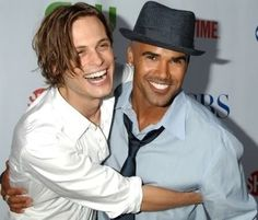 Spencer Reid and Derek Morgan. Good gravy MS. Daisy. The two hottest men in the BAU (Criminal Minds).