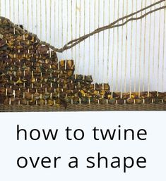 Learn the basics of twining yarn into your tapestry weaving.