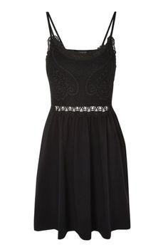 Crochet Lace Insert Dress - Black. | dresslover.co.uk