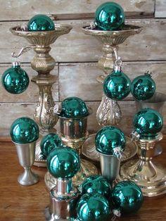 amor adornos de vidrio de época: