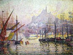 Le port de Marseille parPaul SIGNAC (1863-1935) 1905