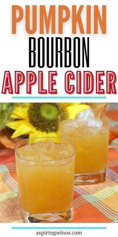 Pumpkin Bourbon Apple Cider   Fall Drinks   Apple Drink Recipes   The Best Fall Cocktails   Bourbon Apple Cocktails   Cider Drink Recipes   #fall #cider #cocktails #bourbon #recipe via @aspiringwinos Apple Cocktails, Cider Cocktails, Bourbon Drinks, Fall Cocktails, Fall Drinks, Wine Drinks, Cocktail Recipes, Drink Recipes, Bourbon Apple Cider
