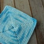 Square Crochet Dishcloths - for the big skein of clearance variegated I just bought!