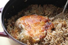 Tbit (Iraqi Baharat-Spiced Roast Chicken with Rice).