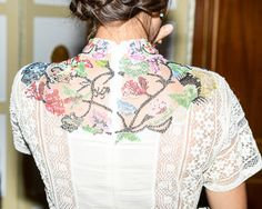 The OAfrica Charity Gala – Vogue Detail shot of Margherita Missoni's dress.