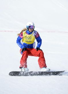 DAY 10:  Chloe Trespeuch of France competes during the Snowboard Ladies' Cross http://sports.yahoo.com/olympics