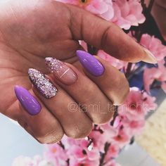 Sparkly Ideas For Your Perfect Mani ❤ 25 Trendy Ideas Of Homecoming Nails To Finish A Lovely Look ❤ Stylish Nails, Trendy Nails, Cute Nails, My Nails, Almond Acrylic Nails, Best Acrylic Nails, Homecoming Nails, Homecoming Ideas, Dream Nails