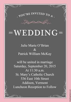 10 invitaciones de boda para imprimir vintage y...¡¡gratis!!