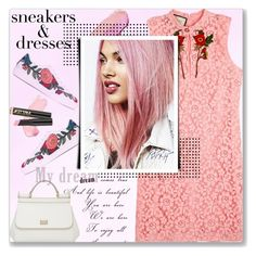 """""""sneaker dresses"""" by ozlem-ozcanb ❤ liked on Polyvore featuring By Terry, Gucci, Rene, Dolce&Gabbana, L.A. Girl and SNEAKERSANDDRESSES"""