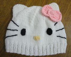 gorras tejidas artesanales de hello kitty - Buscar con Google