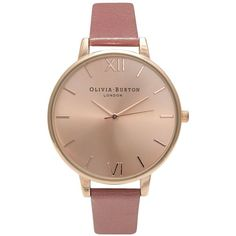 Big Dial Rose N Rose Gold Watch by Olivia Burton ($110) ❤ liked on Polyvore featuring jewelry, watches, rose gold, wide watches, rose gold watches, olivia burton, olivia burton watches and rose gold wrist watch