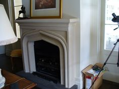 Sandstone Mantels replicates designs of mantelpieces from photos and drawings. Custom made Fire surrounds.