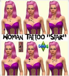 Star tattoos for females at Annett's Sims 4 Welt via Sims 4 Updates