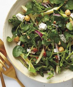 Watercress and Bean Salad With Almonds and Ricotta Salata | Tasty ...