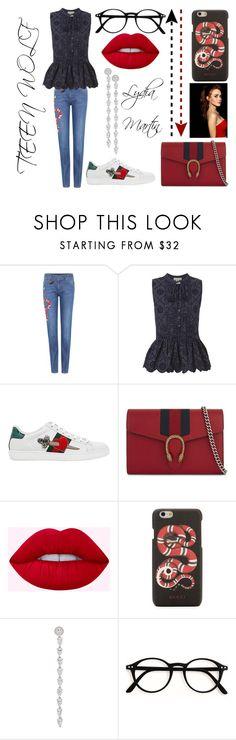 """Lydia Martin"" by roigponsmarina on Polyvore featuring moda, Gucci, Sea, New York y APM Monaco"