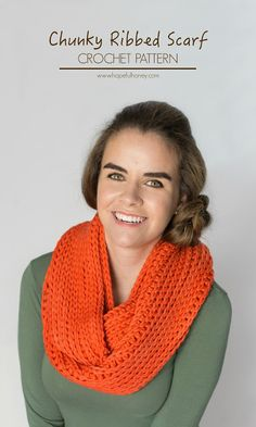 Ribbed Chunky Infinity Scarf - Free Crochet Pattern