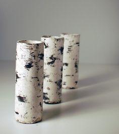 Handmade 10 26cm Koivu Birch Raku Tree Trunk Vase by Maari on Etsy