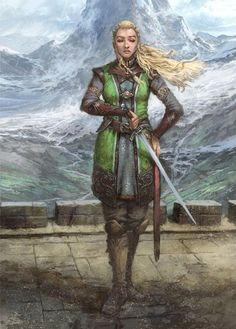 Esteren - Nouvelle illustration représentant Arven - l'un des prétirés du Livre 0 - Prologue