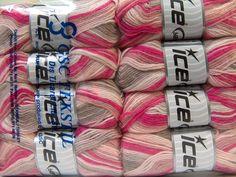 Baby Wool Print Rose Pink Light Pink Fuchsia