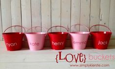 Love buckets Valentine's Day tradition