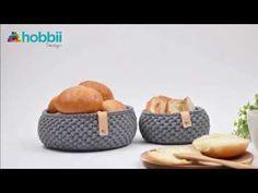 Penye ip ile burgu modelli yuvarlak sepet yapımı-2 - YouTube