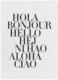 How To Say Hello Poster in the group Prints / Typography & quotes at Desenio AB The Words, Words Quotes, Me Quotes, Sayings, Hello Quotes, Bon Entendeur, How To Say Hello, Desenio Posters, Word Up