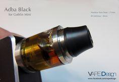 Drip tip Adba Black pour Goblin Mini (V1 &V2)