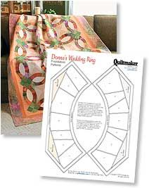 Donna's Wedding Ring Foundations | Archives | Quiltmaker