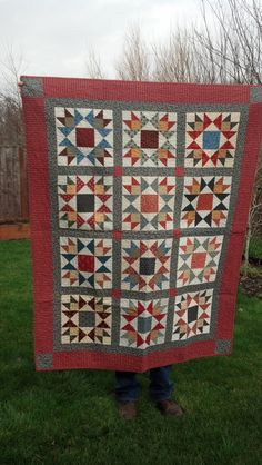 Union Stars Quilt made with Civil War reproduction fabric