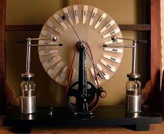 electrostatic generator, a machine for generating high voltages developed between 1880 and 1883 by British inventor James Wimshurst (1832–1903).