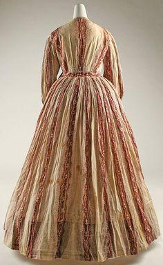 Morning dress Date: ca. 1850 Culture: American Medium: cotton Dimensions: Length at CB: 42 in. (106.7 cm)