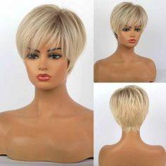 Short Grey Hair, Short Straight Hair, Short Hair With Layers, Short Hair Cuts, Fancy Hairstyles, Short Hairstyles For Women, Wig Hairstyles, Straight Hairstyles, Haircut For Older Women