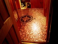 Penny floor . . . I need to do this in a small section of my house somehwere!