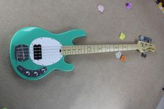 Wholesale 12.Hot Sale High Quality Ernie Ball Musicman Music Man Sting Ray 4 Strings Green Electric Bass Guitar, Free shipping, $235.61/Piece | DHgate Mobile