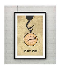Peter Pan Print Modern 11x17 Peter Pan by CaptainsPrintShop