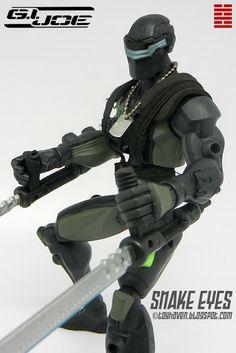gi joe sigma six snake eyes toys | ... Hasbro G.I. Joe Sigma 6 Ninja Commando Snake Eyes Action Figure